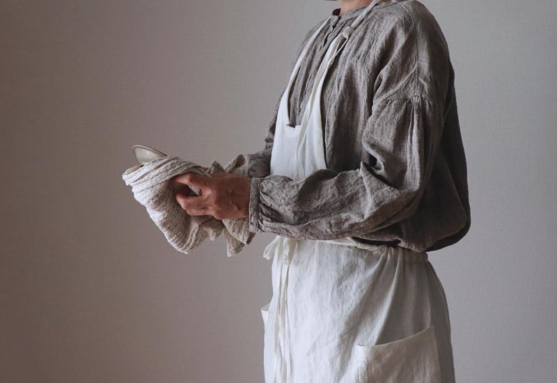 洗いこまれたベルギーリネン1/40番手
