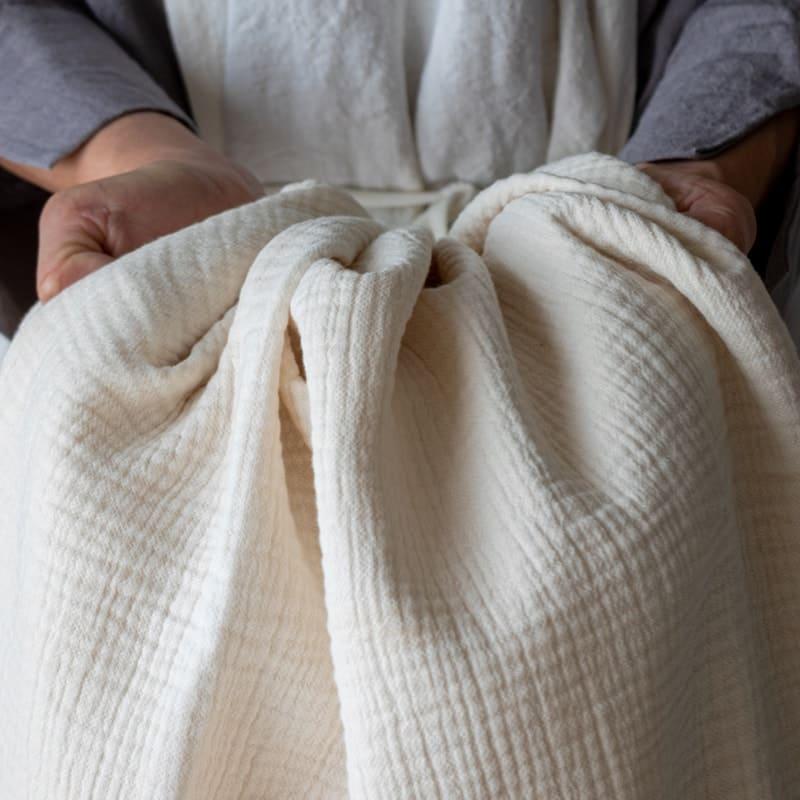 コットン6重織りガーゼ color:キナリ