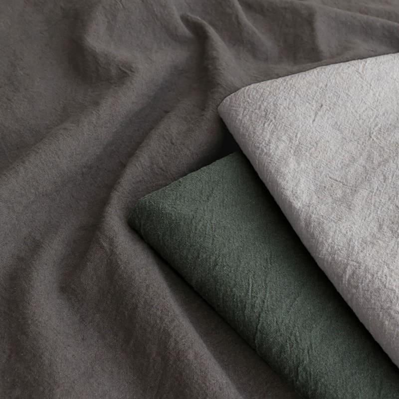 洗いこまれた綿麻キャンバス/ライトグレー/フォレストグリーン/ダークグレー