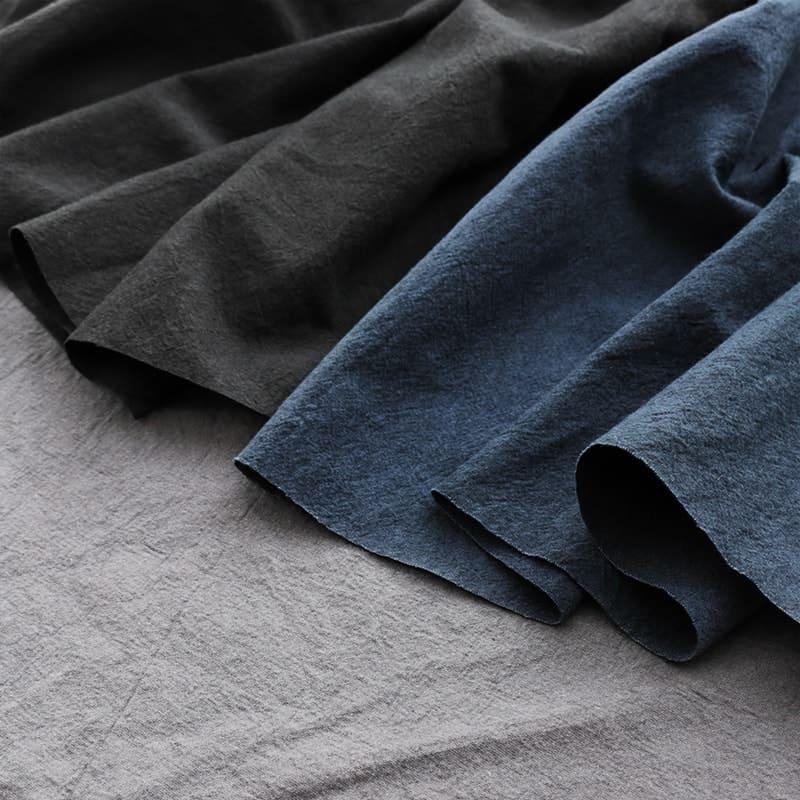 洗いこまれた綿麻キャンバス/ネイビー/ブラック/ライトグレー