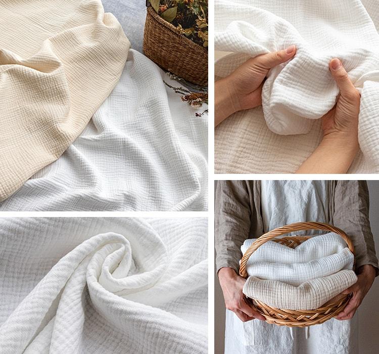 コットン6重織りガーゼ カット品 作品例