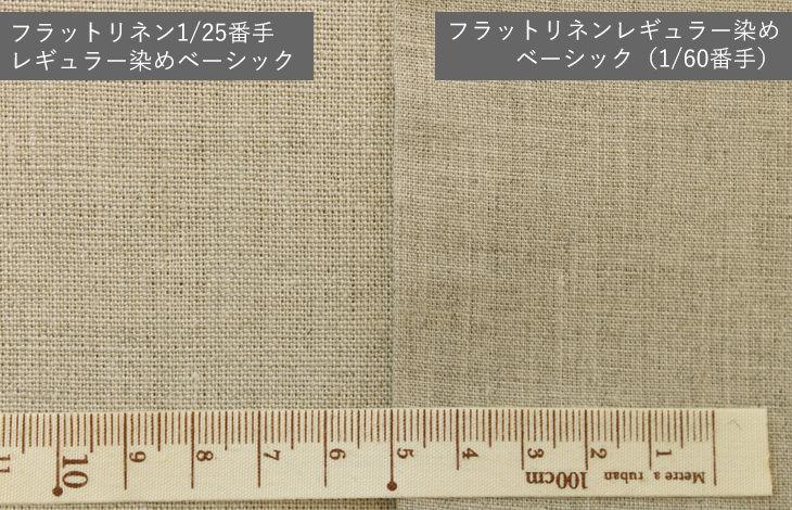 フラットリネン1/25番手レギュラー染めベーシック